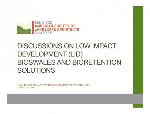 Discussions on Low-Impact Development (LID) Bioswales and Bioretention Solutions