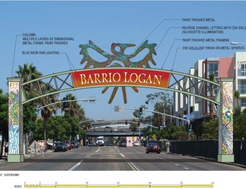 Barrio Logan Community Entry Sign