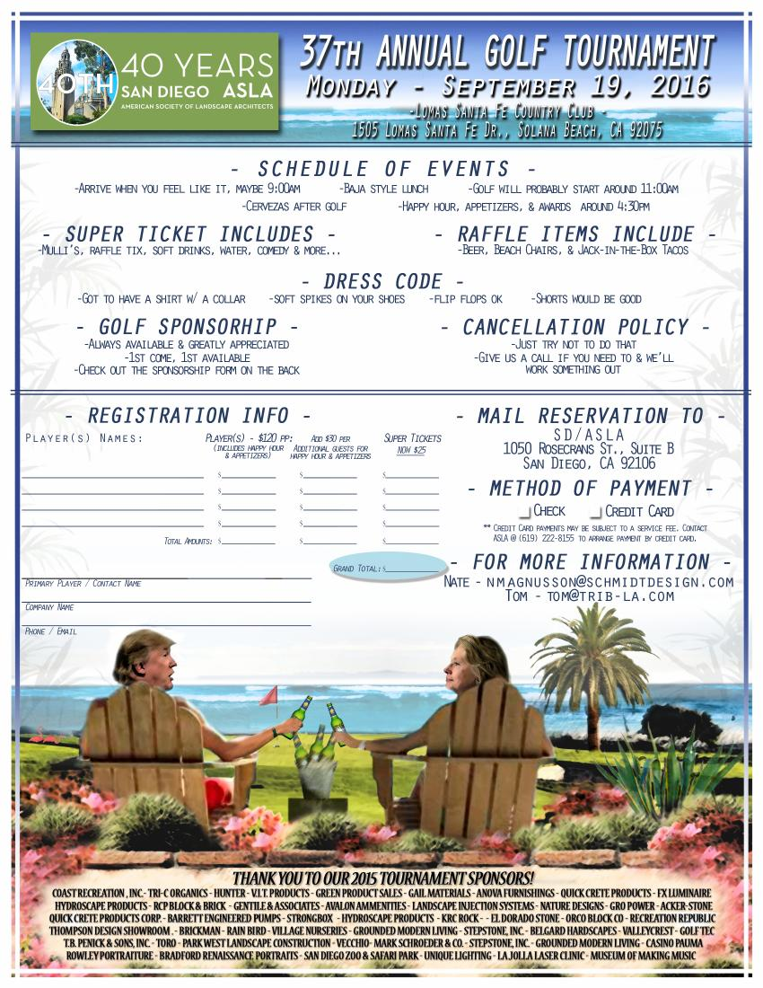 ASLA 37th Annual Golf Tournament - San Diego Chapter American Society Of  Landscape Architects